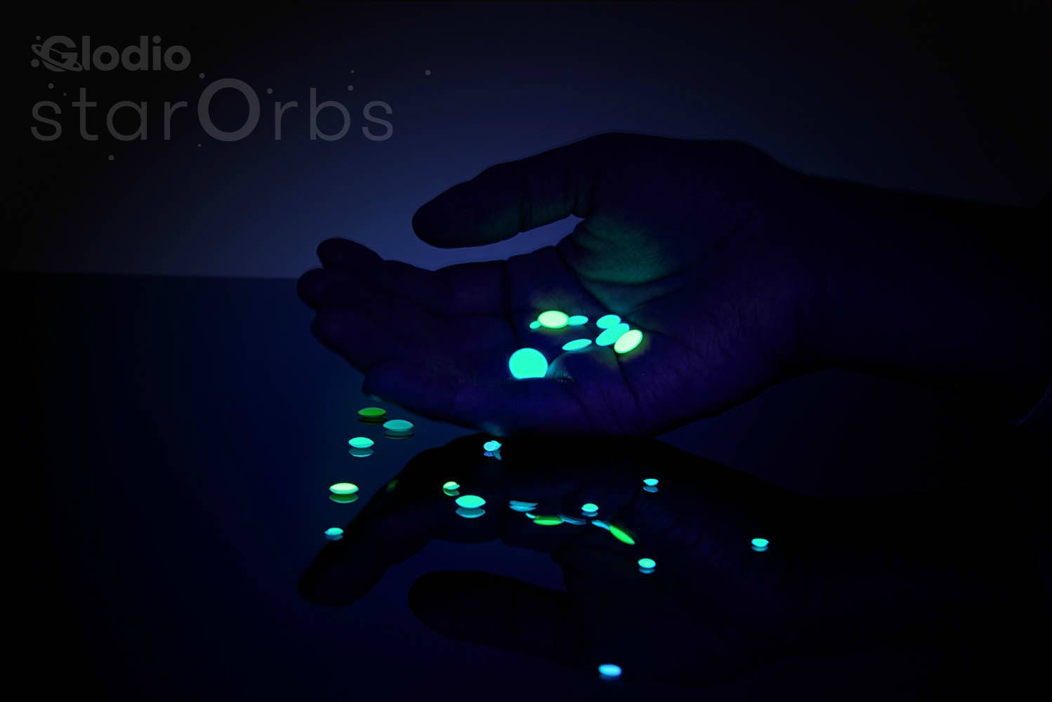3D Domed Glow In The Dark Realistic Star Stickers, Star