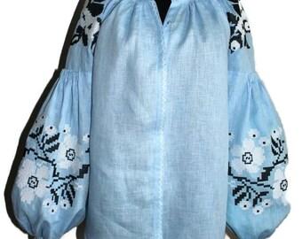 Vyshyvanka Ukrainian Clothing Boho Blouse Bohemian Style Mexican Embroidery Embroidered Blouses Ethnic Ukraine Clothing Vishivanka