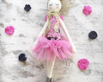 Handmade Cloth Fairy Doll, Heirloom Doll about 42 cm tall by NoosaForestFairies