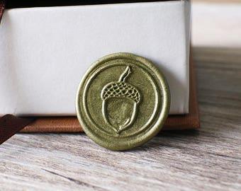 Acorn wax seal stamp kit, woodland fall wax seal, wedding envelope seal,party wax seal stamp set