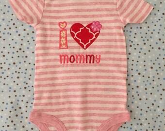 I love mommy baby onesie