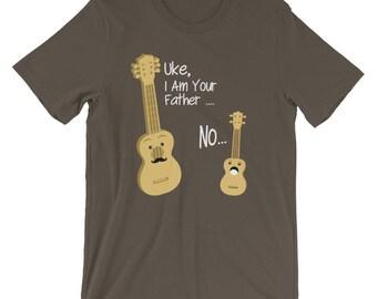 Guitar Gift- Funny Guitar Shirt - Ukulele Shirt - Uke I'm Your Father - Guitar T-shirt - Guitar Tshirt - Band Shirt - Unisex T-Shirt