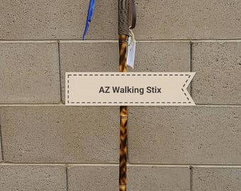 "Bamboo Walking Stick - 58"" Paracord Grip"