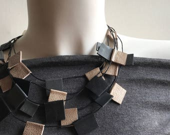 Necklace Leather Choker
