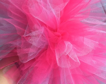 Baby girl hot pink and glitter tutu
