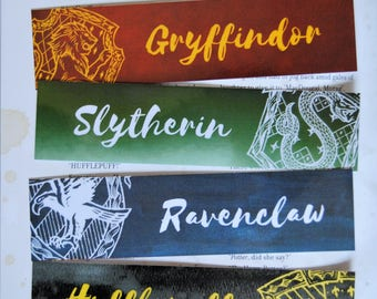 Hogwarts House Bookmarks (set of 4)
