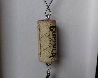 Moon Cork Keychain