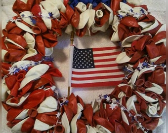 July 4th balloon wreath