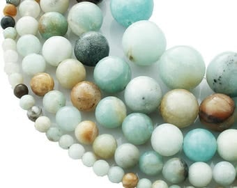 6mm Amazonite Natural Stone Beads Stone Round Loose Beads Gemstone Bead Supply