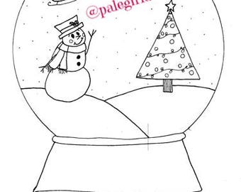 Snowglobe Coloring Page