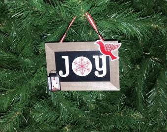 "Handmade 'Joy"" Christmas Ornament"