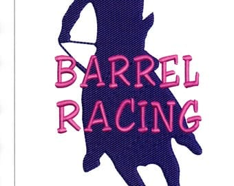 Embroidery Designs Horse Barrel Racing Barrel Racer