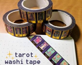 Pixel Tarot Washi Tape, Gold Foil