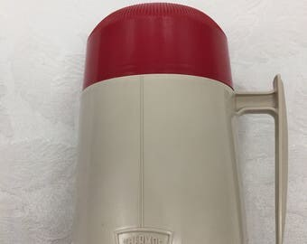 Vintage Thermos Co. King Seeley Model 6002 Sputnik Handle 10 Ounce Size Hot Lunch Camping Throwback Kids