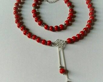 Jewelry Set - Necklace and Bracelet - Handmade