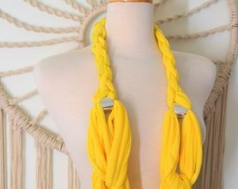 Happy Yellow Nautical Necklace Scarf, Unique Necklace Scarf, Statement Necklace Scarf, Nautical Necklace Scarf, Fashion Scarves, preppy