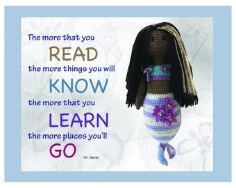 PRINT: Read, Know, Learn, Go - Print/Wall Decor/Inspirational Wall Art/Nursery Decor/Inspirational quotes/artwork for girls/Children's Art