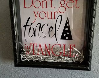 Tinsel in a tangle shadowbox
