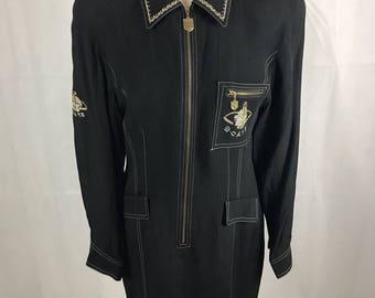 Boobcat 1980's Mid Century Joan Collins Retro Chic Classic Jacket Short Dress