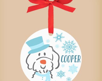 Custom Doodle Ornament, Personalized Dog Christmas Ornament, Pet owner christmas, ,personalized gift, goldendoodle ornament, friends, family