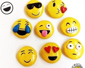 Badhuche Emoji Fridge Magnet - Set of 8