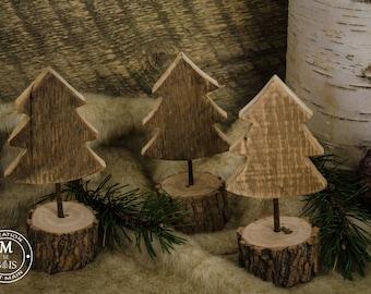 wood tree trio