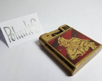 ZUNDER / MYLFLAM Semi-AUTO vintage lighter Map Of Germany 1930s - Working - Great Condition