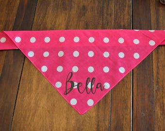 Personalized Dog Bandana Dog Bandana, Polka Dot Dog Bandana, Dog Bandana, Polka dot,  Dog handkerchief, #dogs