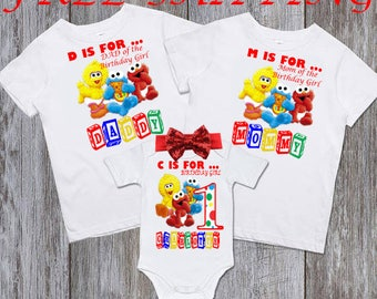 Sesame Street Family Shirts, Sesame Street Birthday Shirt, Sesame Street Party, Sesame Street Birthday, Sesame Street Family Birthday Shirt