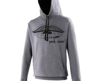 """Word"" hooded sweatshirt"