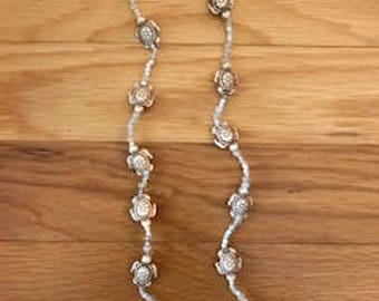 White Turtle bead necklace
