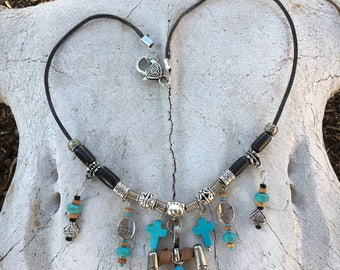 Vintage Buckle Necklace