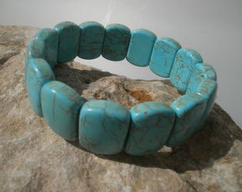 "magnesite bracelet ""Turquoise"" #017"