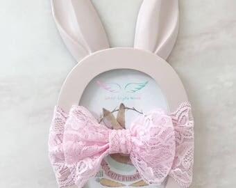 Pink baby LACE headband,newborn lace headband,lace headband,girl lace headband,infant lace headband,baby girl photography,newborn photo prop