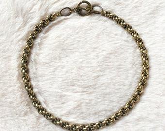 Brass Spiral Chain