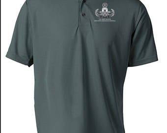 Master Rated Explosive Ordinance Disposal EOD Embroidered Moisture Wick Polo Shirt -7730
