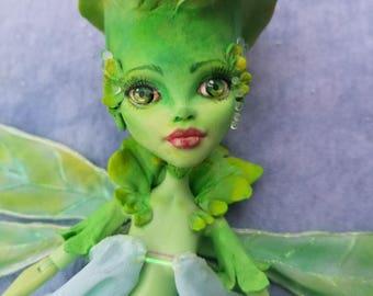 OOAK Flower Fairy Queen Titania , Monster High Custom Repaint & Body Mods