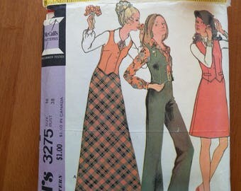 Vintage 1970s sewing pattern: McCall's 3275 (Size 16)