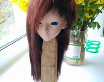 """Sale Wigs on Minifee, bjd ,MSD ,MNF, 7-8"""" wig,Size 7-8"""",goat wig,natural goat,minifee,минифи"""