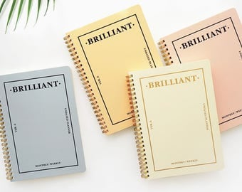 Brilliant weekly planner / diary / note / line note / scheduler / calender / 2018 diary / planner