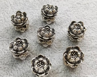 30pcs  Lotus Flower Beads , DIY Jewelry accessories , Nepalese beads ,Healing ,Yoga Jewelry, Wholesale