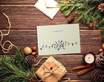5x7 All Lights Matter Christmas Card - Stranger Things