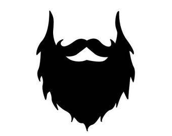 Beard decal sticker Laptop Car Truck woods bearded villain man hair respect elder mustache ride label growth natural