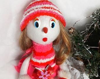 """Textile doll """"Snowlake"""""""