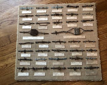 Antique Barbed Wire Display 1800's 37 pcs