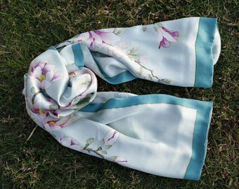 Silk hand-painted Scarf