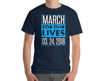 March For Our Lives Gun Control Political Protest Shirt - #GunReformNow March 24 Short-Sleeve T-Shirt