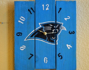 Carolina Panthers logo clock