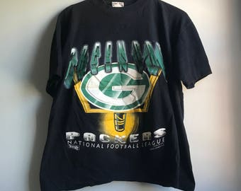 90s Green Bay Packers T-shirt - M