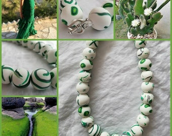 Vibrant multi-color bead necklace